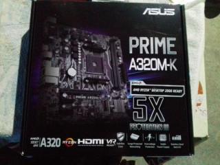 Kit gaming ryzen 7 1800x + ASUS PRIME A320M-K , sigilate noi