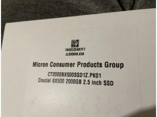 SSD Sata 2.5 Crucial BX500 2000GB nou sigilat